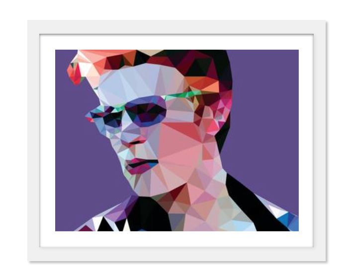 David Bowie - Stampa Saatchi At gallery x Pantone