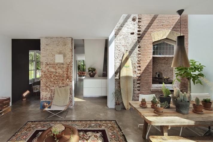 Zona living casa ex ferrovieri Santpoort-Noord