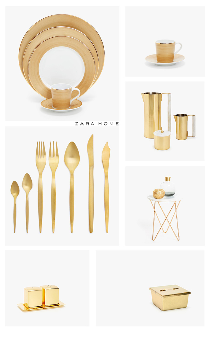 Zara casa collezione ss18 gold